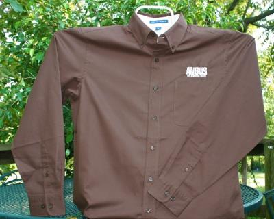Men's Long Sleeved Easy Care Shirt - Brown
