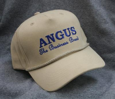 Angus the Business Breed Logo - Khaki Structured Cap