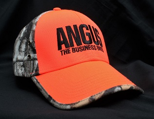 Angus the Business Breed Logo - Camouflage  & Hunter Orange Structured Cap