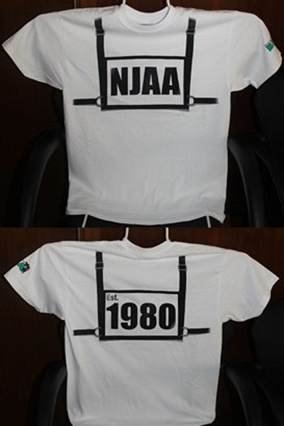NJAA Exhibitor's Show Harness T-Shirt - White - Adult & Youth Sizes